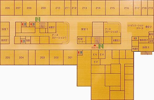 2階病棟平面図
