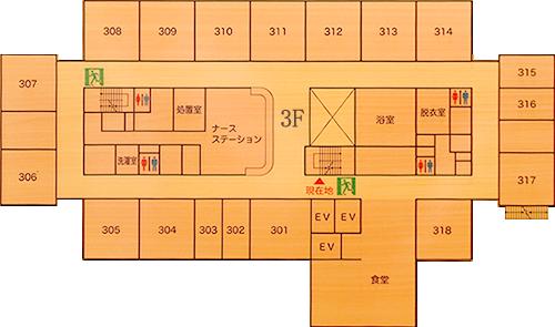 3階病棟平面図