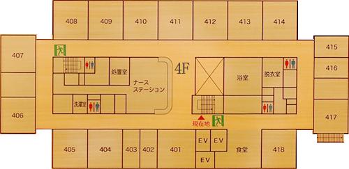 4階病棟平面図